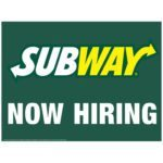 Subway job application